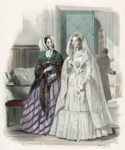 Bride from April 1844's le moniteur de la mode