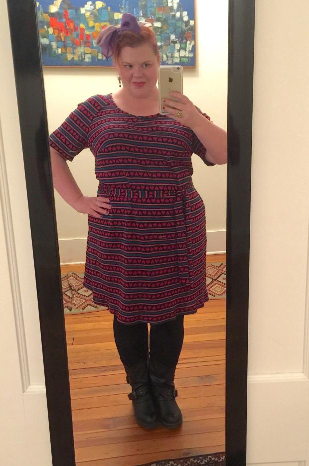 70s heart dress 1