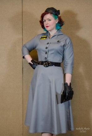 Designer Megan Maude as Batman